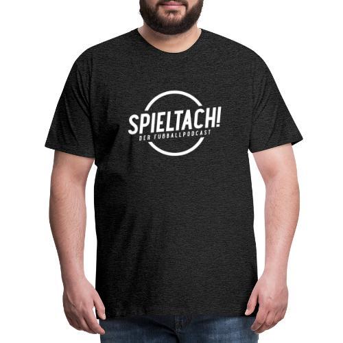 Logo Spieltach - Weiß - Männer Premium T-Shirt