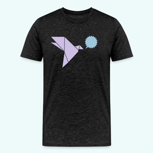 Schwalbe Sprechblase - Männer Premium T-Shirt