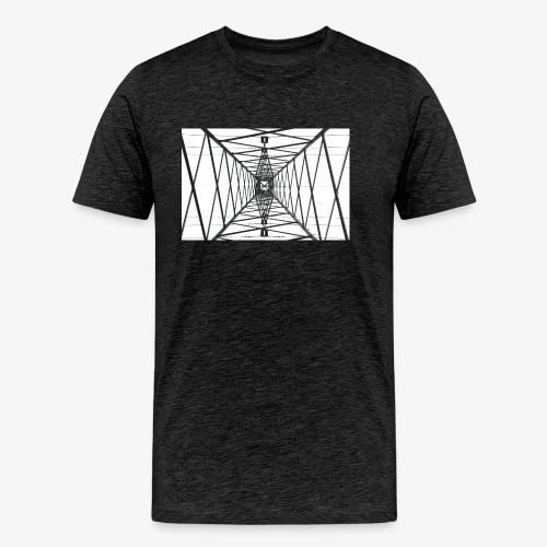 Quermast WhiteBG - Männer Premium T-Shirt
