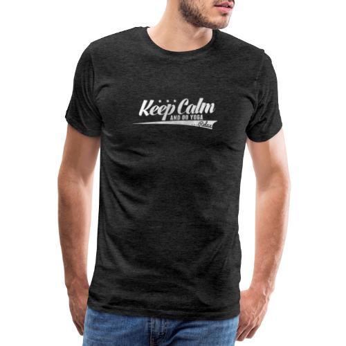Yoga Relax Keep Calm - Männer Premium T-Shirt