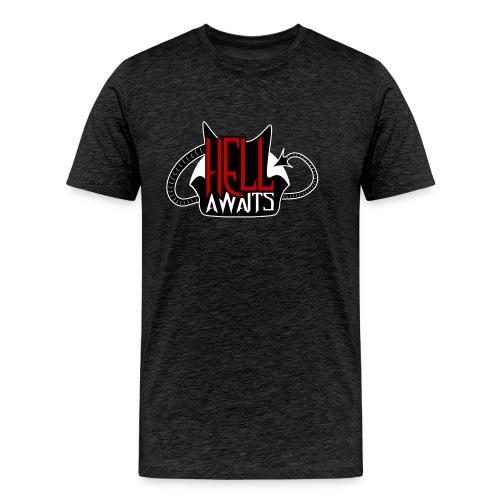 Hell Awaits -clean - Mannen Premium T-shirt