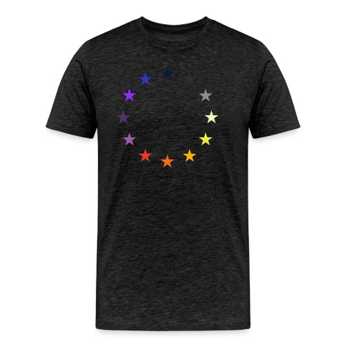 EU Flagge bunt - Männer Premium T-Shirt