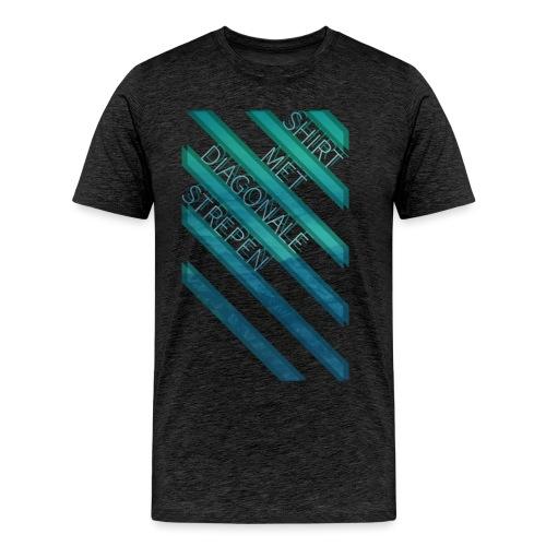 Diagonale strepen - Mannen Premium T-shirt