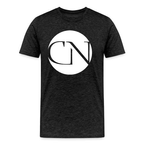 ChiaraNashairaLogoWhite png - Mannen Premium T-shirt