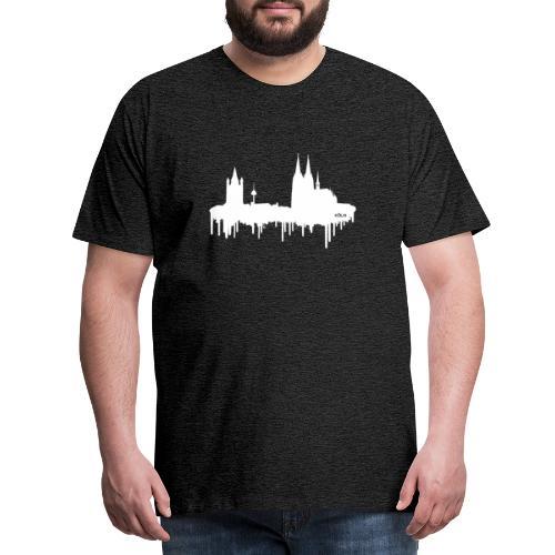 Skyline Köln - Weiß - Männer Premium T-Shirt