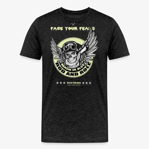 Flying Skull - Männer Premium T-Shirt