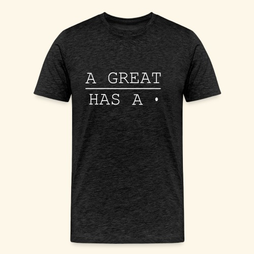 A great line has a point - Men's Premium T-Shirt