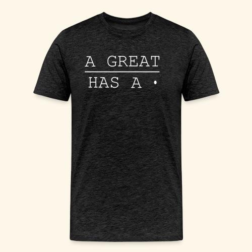 A great line has a point - Men's Premium T-Shirt