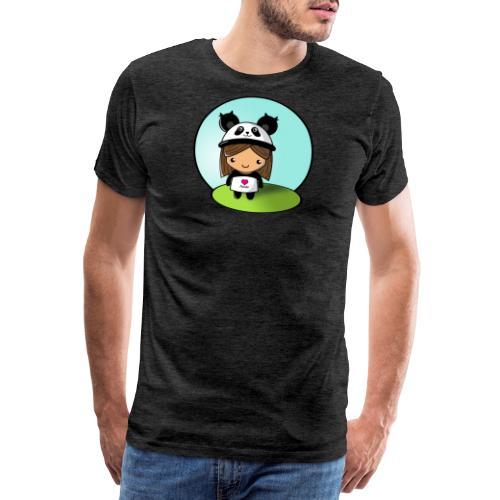 Panda tjej! - Premium-T-shirt herr