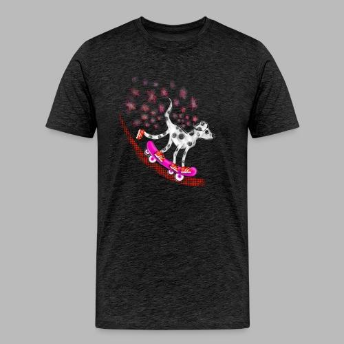 Spotty Skateboarder - Men's Premium T-Shirt