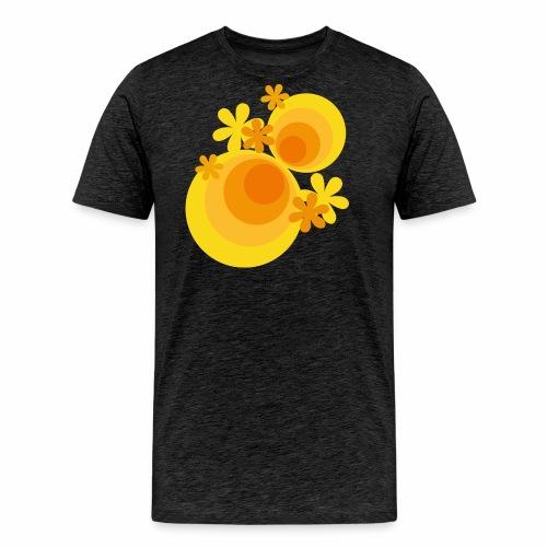 70er Kreise Blumen - Männer Premium T-Shirt