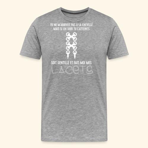 cheville et lacets - T-shirt Premium Homme