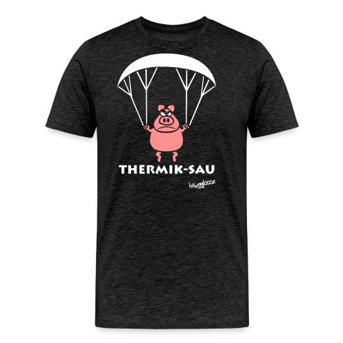 ThermikSau_braun - Männer Premium T-Shirt