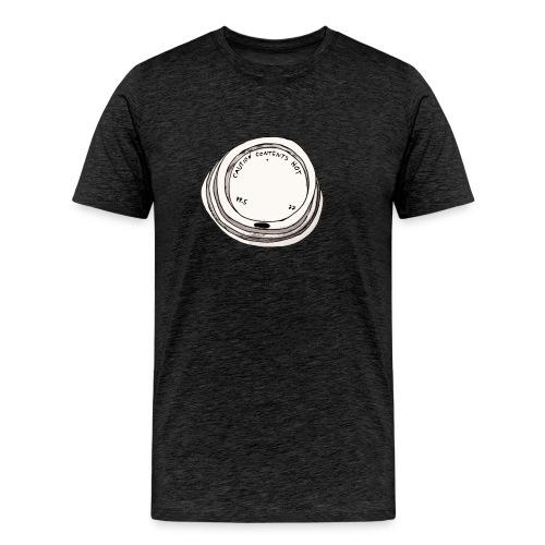 CAUTION CONTENTS HOT - Männer Premium T-Shirt