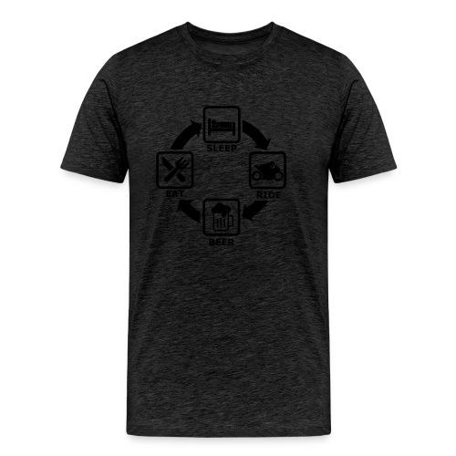 plan du check act - Männer Premium T-Shirt