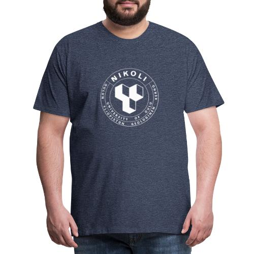 Nikolin valkoinen logo - Miesten premium t-paita