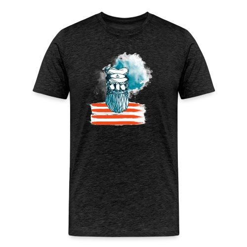 Der alte Seebär - Maritim Serie von AP-Design - Männer Premium T-Shirt