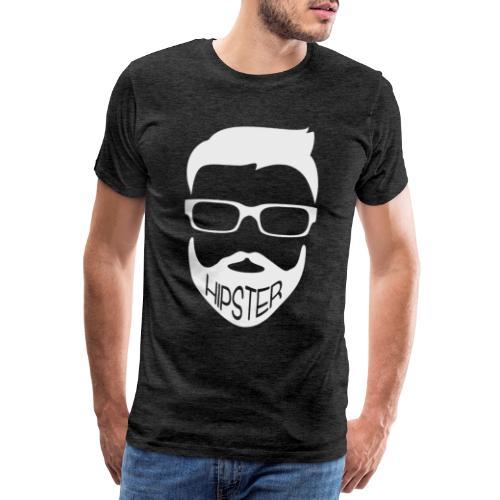 Hipster Bart Vollbart Mann Shirt Geschenk - Männer Premium T-Shirt