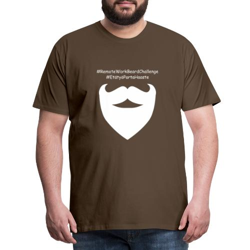 Remote Work Beard Challenge - Men's Premium T-Shirt