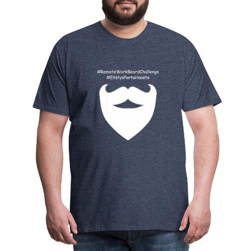 Remote Work Beard Challenge - Men's Premium T-Shirt