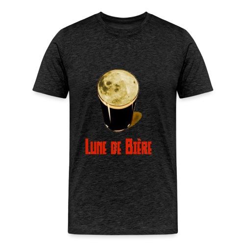 Logo Lune de Bière - T-shirt Premium Homme