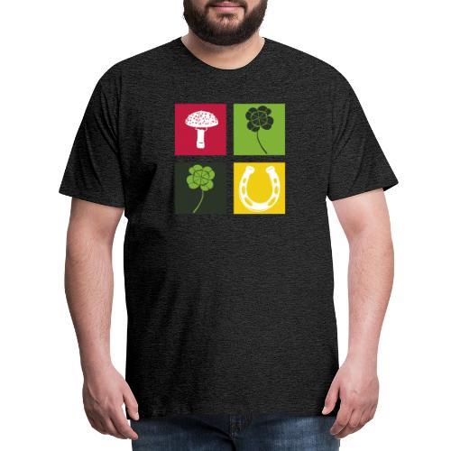 Just my luck Glück - Männer Premium T-Shirt