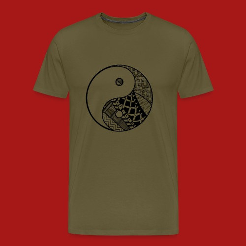 Decorative-Yin-Yang - Herre premium T-shirt