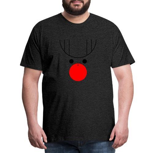 Rentier Kugelnase Weihnachten - Männer Premium T-Shirt
