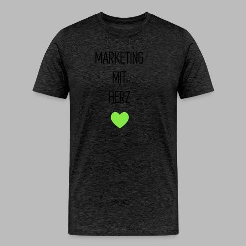 Marketing mit Herz - Männer Premium T-Shirt
