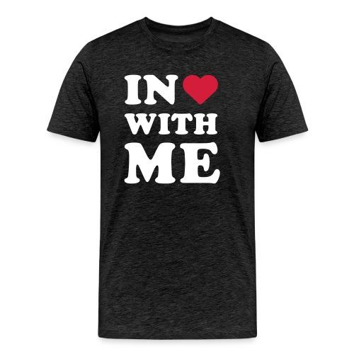 Schriftzug in <3 with me - Männer Premium T-Shirt