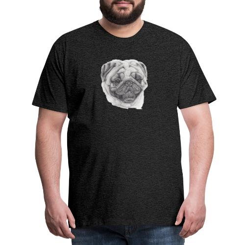 Pug mops 2 - Herre premium T-shirt