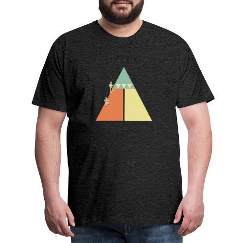 Eiskletterer am Berg - Männer Premium T-Shirt