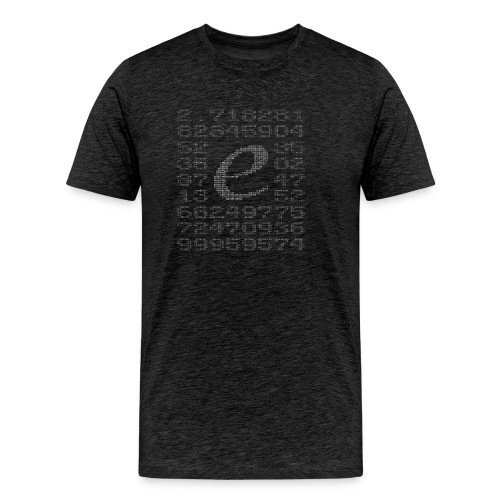 Eulersche Zahl e (Basis natürlicher Logarithmus) - Männer Premium T-Shirt