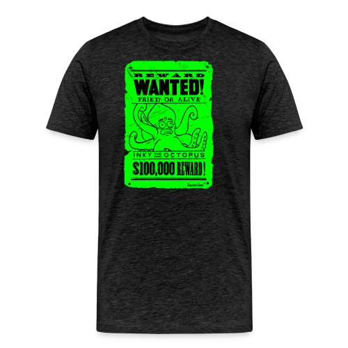 Wanted Inky the Octopus by Francisco Evans ™ - Männer Premium T-Shirt