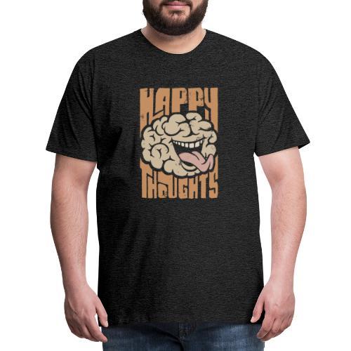 Happy Thoughts - Premium-T-shirt herr