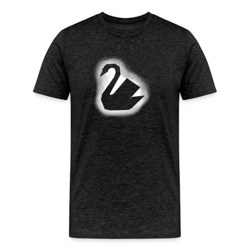 Schwan Stencil - Männer Premium T-Shirt