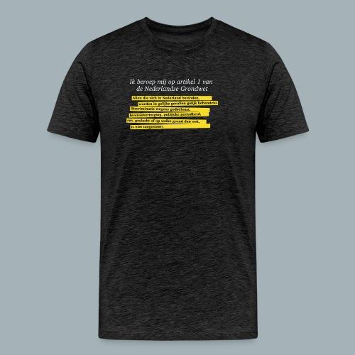 Nederlandse Grondwet T-Shirt - Artikel 1 - Mannen Premium T-shirt