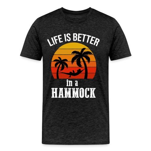 Reisen Weltreise Travelshirt Hängematte - Männer Premium T-Shirt