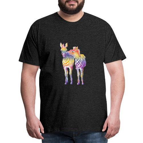 Zebra Love // art.implied - Männer Premium T-Shirt