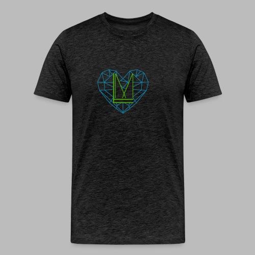 LoveMedia Logo - Männer Premium T-Shirt