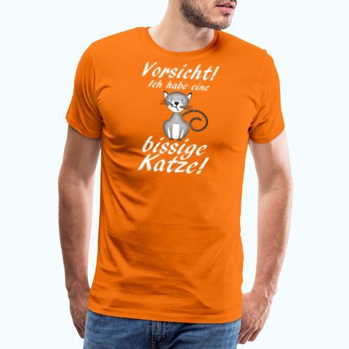 VORSICHT ich habe eine bissige Katze! - Men's Premium T-Shirt