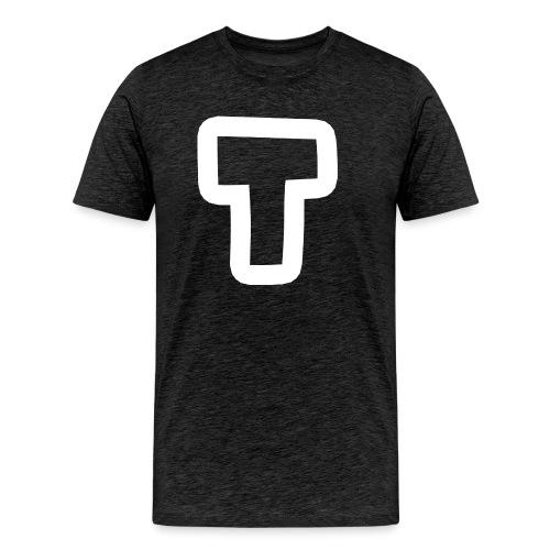 T BIG transparent white stroke - Men's Premium T-Shirt
