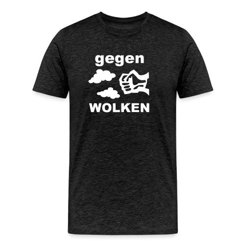 Gegen Wolken! Schwarz - Männer - Männer Premium T-Shirt