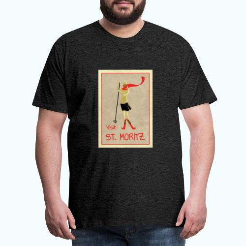 Vintage Retro Reise Plakat St Moritz - Men's Premium T-Shirt