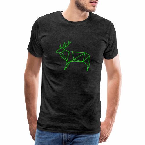 Wired deer - Mannen Premium T-shirt