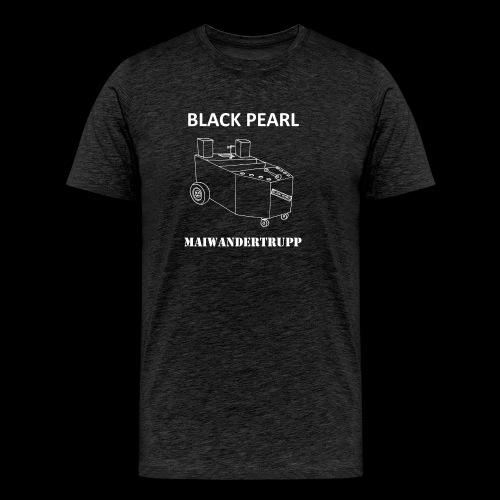 Bollerwagenemblem + MAIWANDERTRUPP in weiß - Männer Premium T-Shirt