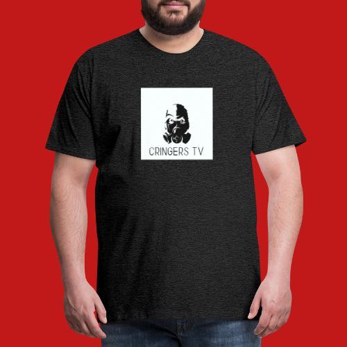 Original Cringers Tv Logga - Premium-T-shirt herr
