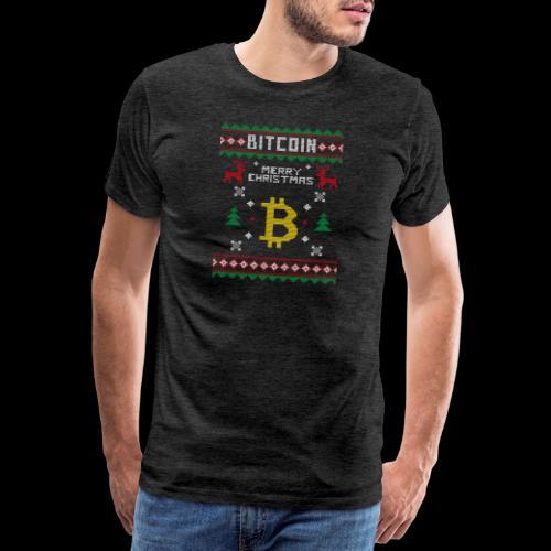 Bitcoin Merry Christmas - Koszulka męska Premium