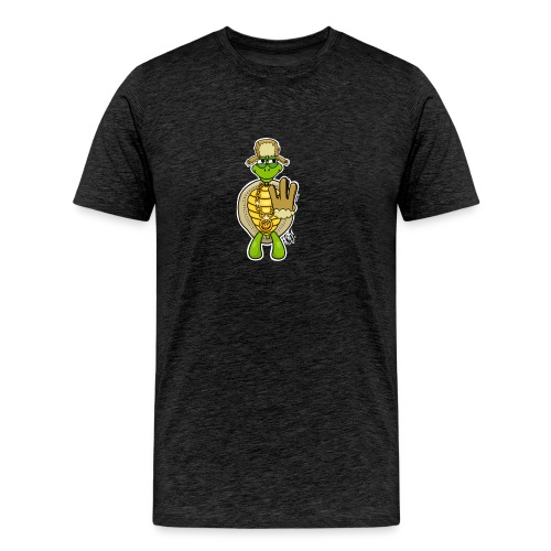 Winter West Coast Schildkröte / Hip-Hop Turtle - Männer Premium T-Shirt