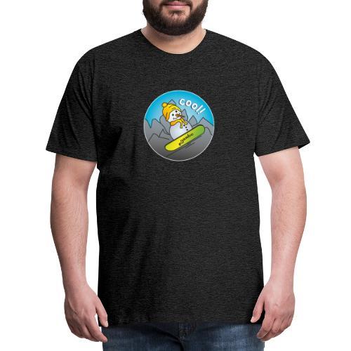 Schneemann auf Snowboard - Männer Premium T-Shirt